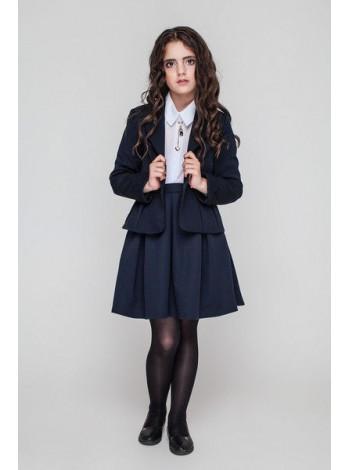 Школьная юбка в крупную складку