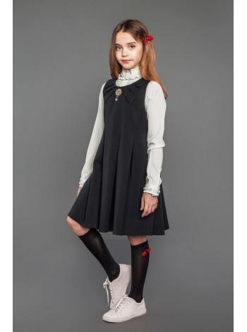 Модный школьный сарафан для девочки