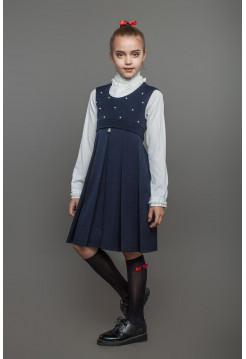 Модный сарафан школьный на девочку