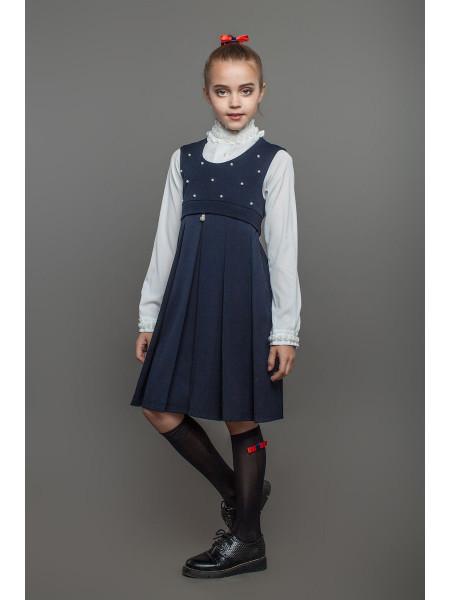 Модний сарафан шкільний на дівчинку