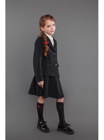 Классический школьный пиджак с пуговицами