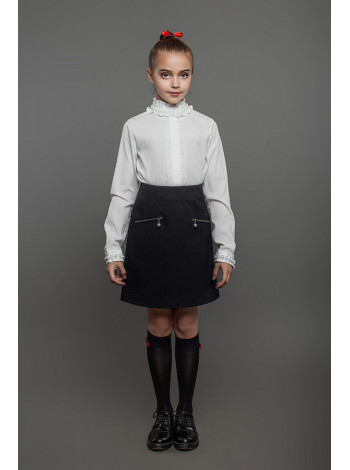 Стильная школьная юбка трапеция для девочки