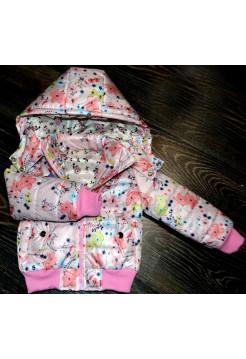 Детская короткая куртка с капюшоном весна