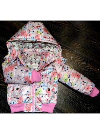Дитяча коротка куртка з капюшоном весна