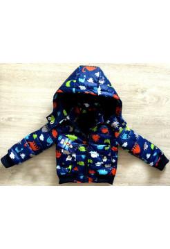 Демисезонная куртка для мальчиков с принтом