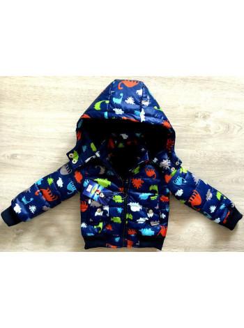 Демісезонна куртка для хлопчиків з принтом