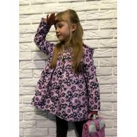 Дитяча легка курточка в квіточку для дівчинки