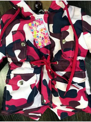 Детская парка камуфляж для девочки