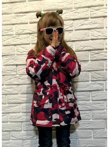 Дитяча парка камуфляж для дівчинки