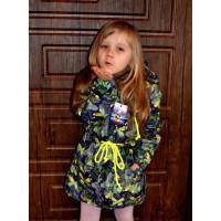 Дитяча парка з плащової тканини для дівчинки