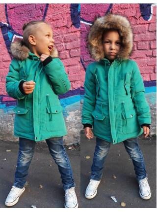Куртка парка зимняя детская для девочки
