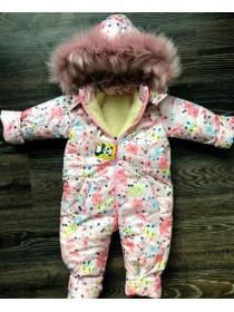 Слитный зимний комбинезон для детей