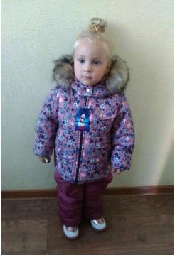 Детский костюм зимний на девочку на овчине