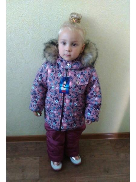Дитячий костюм зимовий на дівчинку на овчині