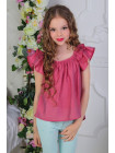 Дитяча літня блузка із коротким рукавом