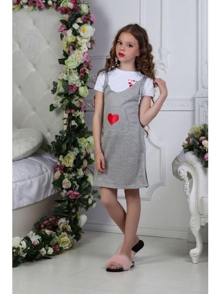 Детский трикотажный сарафан для девочки