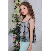 Нарядная блузка топ для девочки