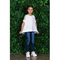 Дитяча біла блузка для дівчинки