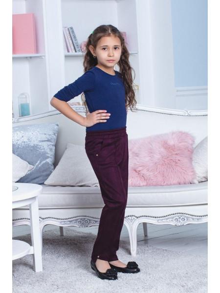 Модные замшевые брюки для девочки