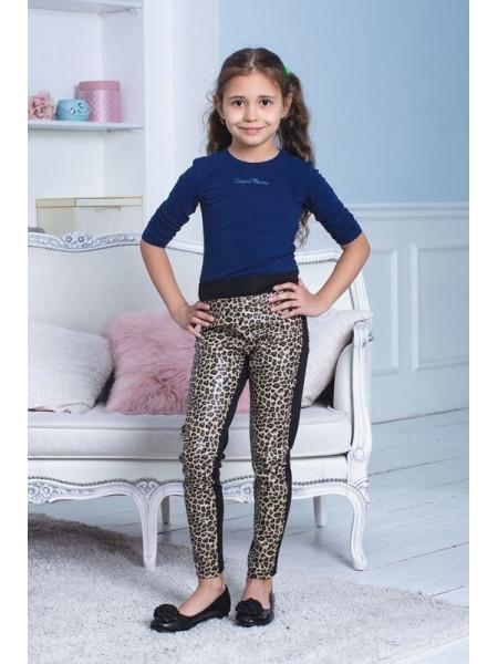 Стильные кожаные лосины для девочки