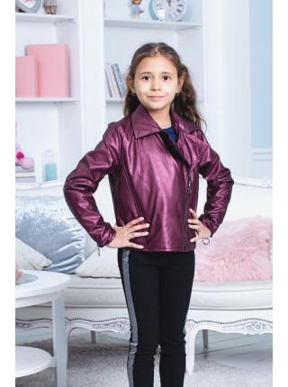Детская короткая куртка косуха для девочки
