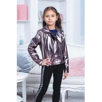 Дитяча коротка куртка косуха для дівчинки