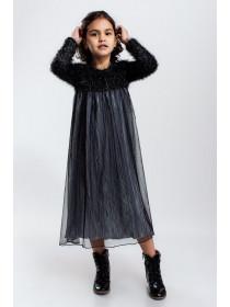 Нарядное теплое платье для девочки