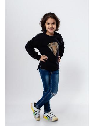 Детский теплый свитшот для девочки
