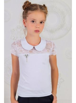 Детская школьная блузка с воротничком