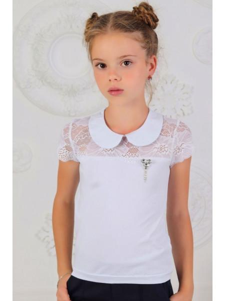 Дитяча шкільна блузка із комірцем