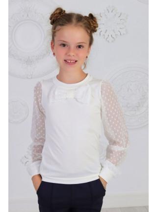 Красивая школьная блузка с бантом