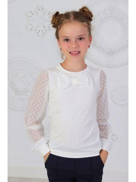 Красива шкільна блузка із бантом