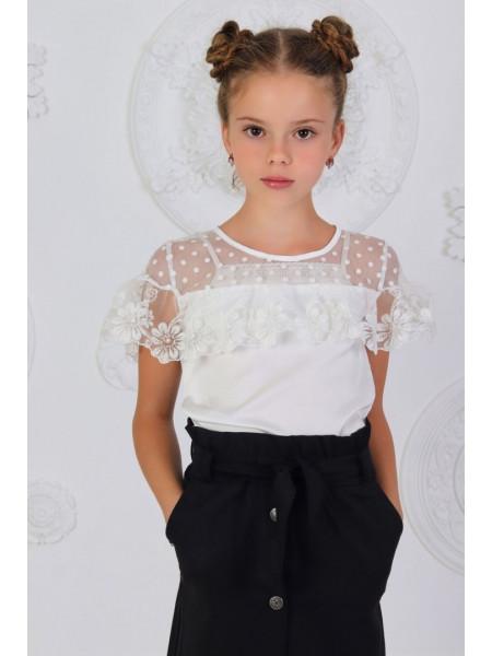 Детская нарядная школьная блузка
