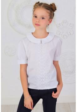 Легкая школьная блузка с коротким рукавом