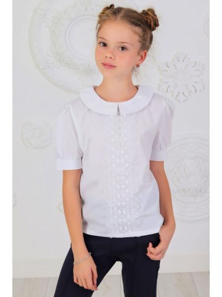 Легка шкільна блузка із коротким рукавом
