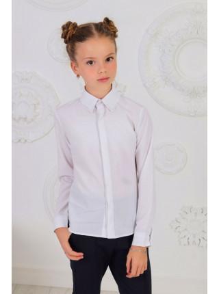 Класична біла шкільна блузка