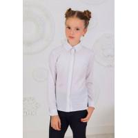 Классическая белая школьная блузка