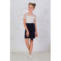Модная школьная юбка с воланом