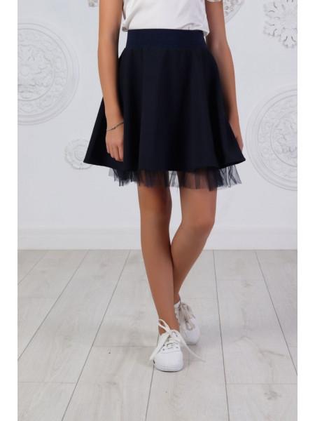 Пышная школьная юбка с фатином