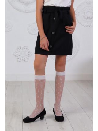 Короткая школьная юбка с пуговицами