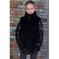 Дитяча демісезонний куртка із хутром для дівчинки