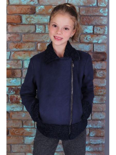 Коротка куртка дублянка для дівчинки