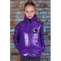 Дитяча осіння коротка куртка для дівчинки