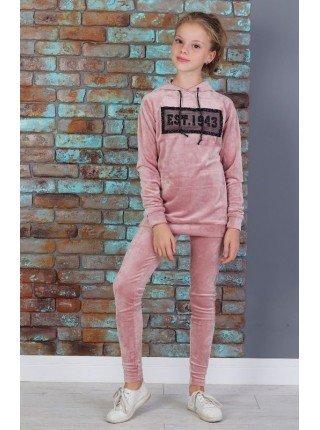 Модный велюровый спортивный костюм для девочки