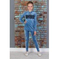 Модний велюровий спортивний костюм для дівчинки