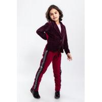 Дитячий стильний костюм із піджаком для дівчинки