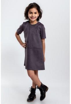 Детское замшевое платье для девочки