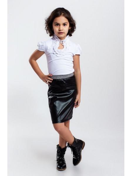 Стильна шкіряна спідниця для дівчинки