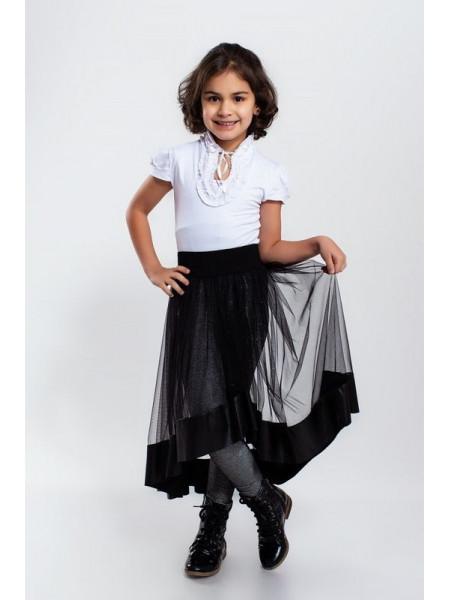 Стильная фатиновая юбка для девочки