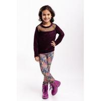 Красивая детская кофта с длинным рукавом для девочки